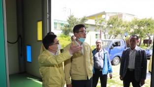 김철우 보성군수, 여름철 자연재난 대비 주요 시설 현장 점검