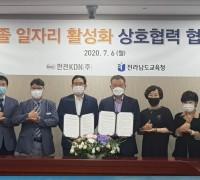 전남교육청, 한전KDN과 고졸 일자리 활성화 업무협약 체결